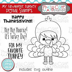 My Favorite Turkey Digital Stamps