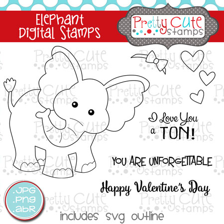 Elephant Digital Stamps