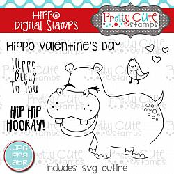 Hippo Digital Stamps