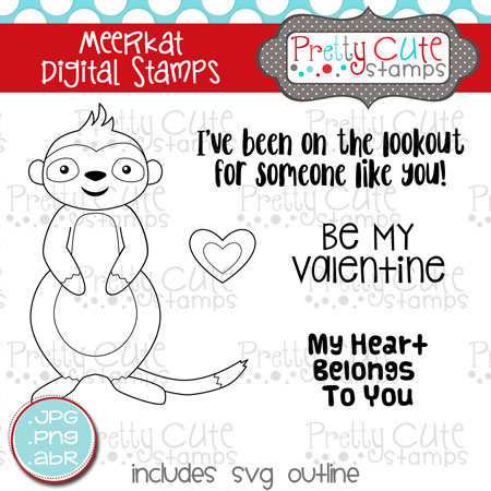 Meerkat Digital Stamps