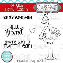 Ostrich Digital Stamps
