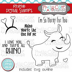 Rhino Digital Stamps