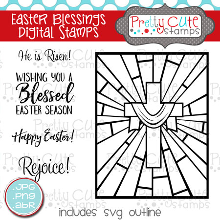 Easter Blessings Digital Stamps