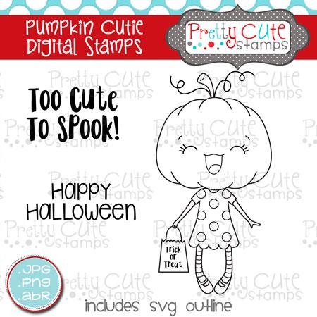 Pumpkin Cutie Digital Stamps