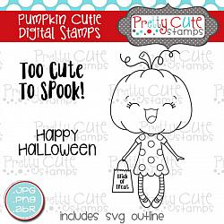 Pumpkin Cutie Digital Stamps