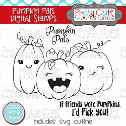 Pumpkin Pals Digital Stamps