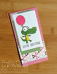 Birthday Gator Digital Stamps